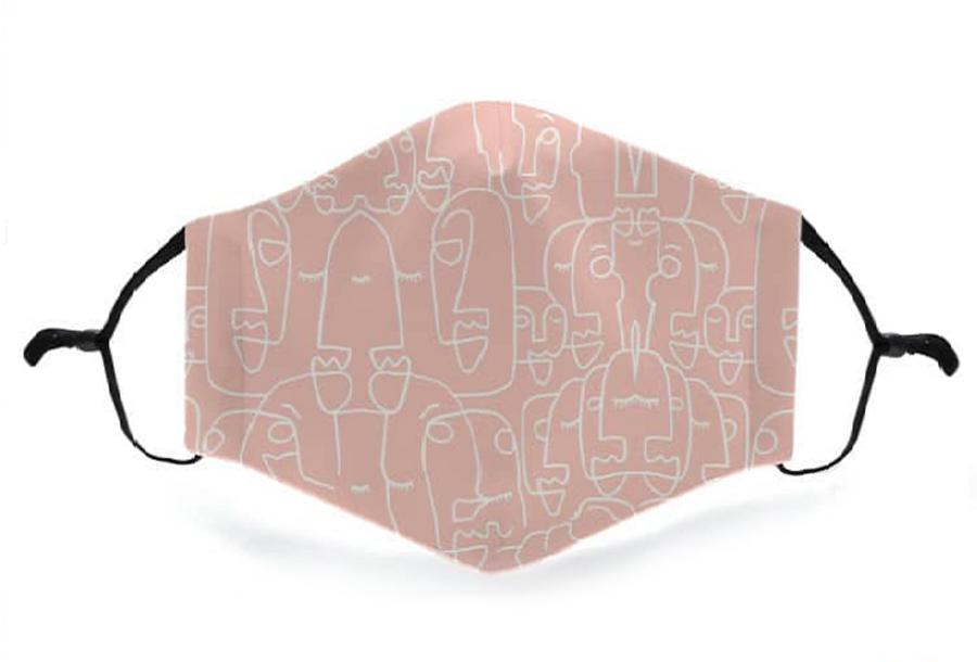 Wasbare mondkapjes en PM2.5 filters Mondkapje - Roze + 11 PM2.5 filters