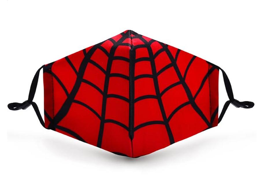 Wasbare mondkapjes en PM2.5 filters Mondkapje kinderen - Spider + 11 PM2.5 filters