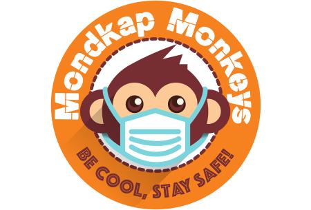 Wasbare mondkapjes en PM2.5 filters van Mondkap Monkeys | Niet-medische mondmaskers voor kinderen en volwassenen