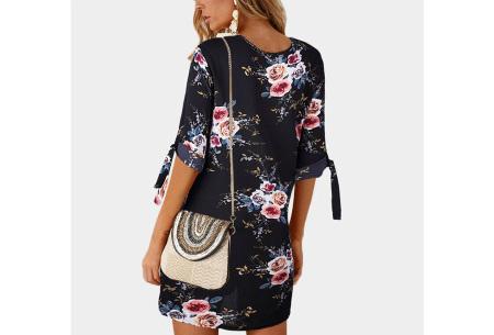 Luchtig tuniek | Perfecte zomerjurk voor dames met hippe bloemen- en panterprint