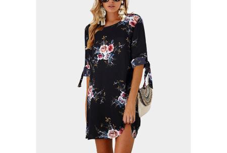 Luchtig tuniek | Perfecte zomerjurk voor dames met hippe bloemen- en panterprint #1