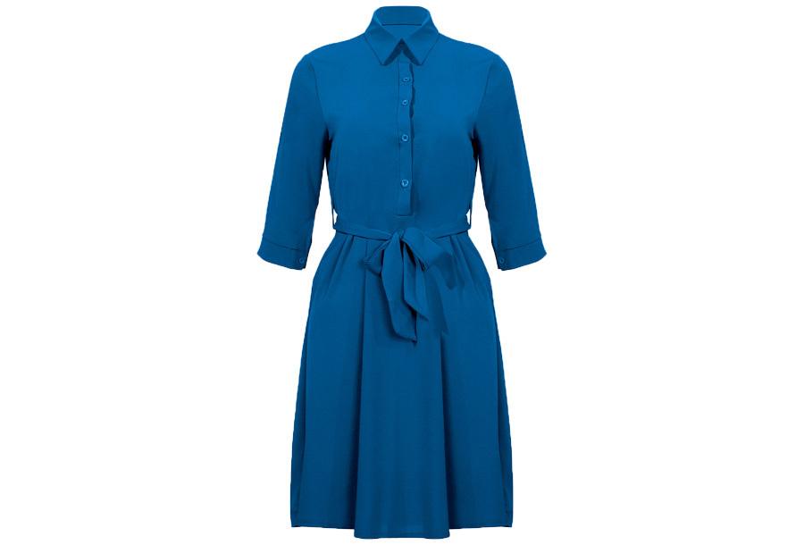 Basic blousejurk Maat L - Blauw