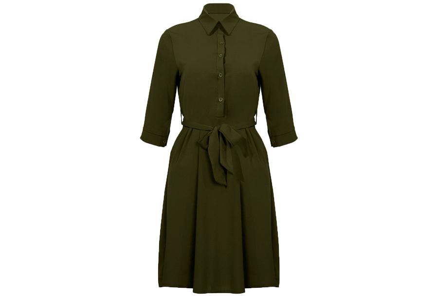 Basic blousejurk Maat S - Groen