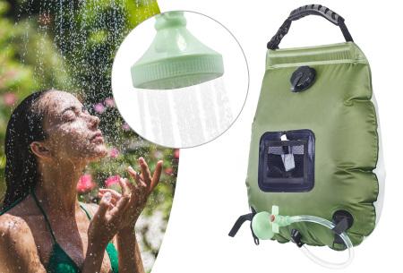 Campingdouche | Ideale buitendouche op zonne-energie!