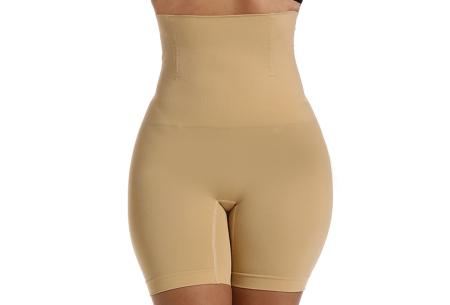 Shaper voor buik en benen | Onzichtbaar & corrigerend ondergoed voor onder jurken, broeken, T-shirts en meer Beige