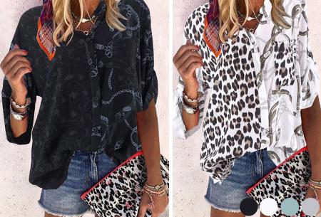 Panterprint blouse | Dames blouse met stoere print