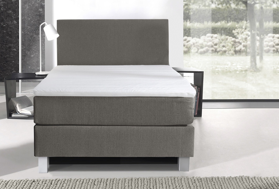 1-persoons boxspring Beige + Montage - Comfort 1-persoons boxspring