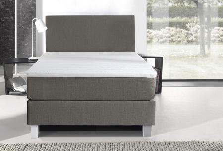 1-persoons boxspring | Luxe en comfortabel eenpersoonsbed beige