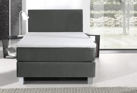 1-persoons boxspring | Luxe en comfortabel eenpersoonsbed grijs