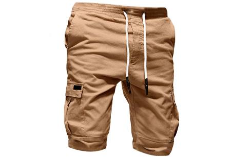 Heren korte broek   Casual shorts voor de zomer - in 10 kleuren Khaki