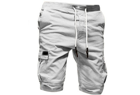 Heren korte broek   Casual shorts voor de zomer - in 10 kleuren Wit