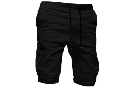Heren korte broek   Casual shorts voor de zomer - in 10 kleuren Zwart