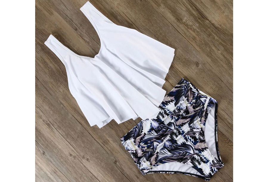 High waist bikini - Maat L - #F