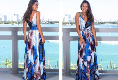 Maxi jurk   Lange jurk in 15 fleurige printjes #11