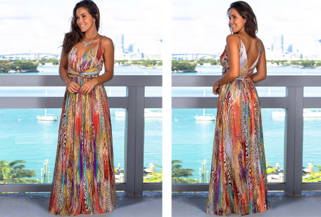 Maxi jurk   Lange jurk in 15 fleurige printjes #9