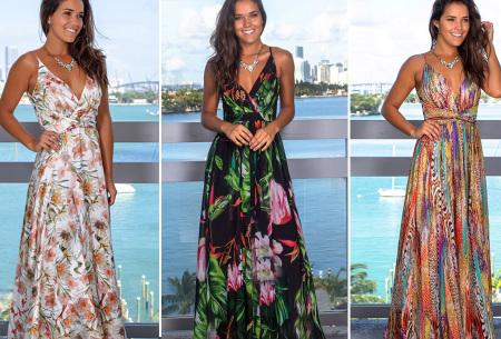 Maxi jurk   Lange jurk in 15 fleurige printjes