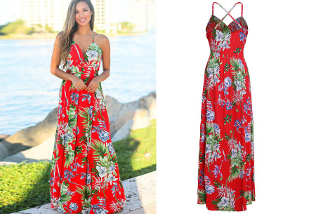 Maxi jurk   Lange jurk in 15 fleurige printjes #7