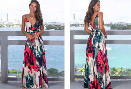 Maxi jurk   Lange jurk in 15 fleurige printjes #13