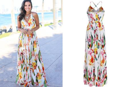 Maxi jurk   Lange jurk in 15 fleurige printjes #2