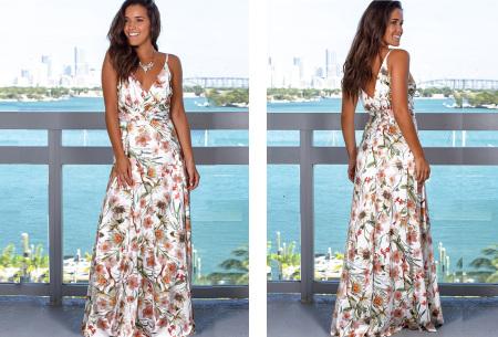 Maxi jurk   Lange jurk in 15 fleurige printjes #14