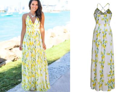Maxi jurk   Lange jurk in 15 fleurige printjes #15