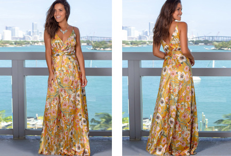 Maxi jurk   Lange jurk in 15 fleurige printjes #5