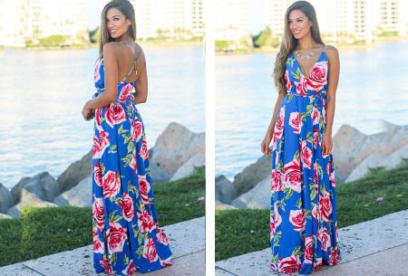 Maxi jurk   Lange jurk in 15 fleurige printjes #3
