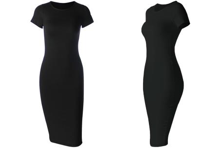 Basic midi jurk | Stretchy T-shirt jurk voor alle gelegenheden - In 9 kleuren!