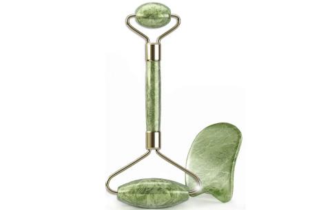 Jade roller | Gezichtsroller en Guasha steen voor een stralende huid  Jade