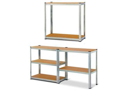 Robuuste metalen stellingkast van Herzberg | Tot 175KG belastbaar per plank!