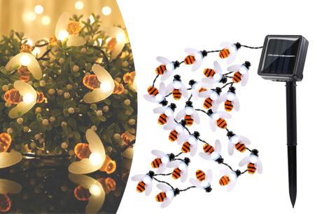 Solar led-lichtslinger met bloemen of bijen | Gezellige buitenlampen op zonne-energie Bijtjes