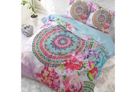 Katoenen dekbedovertrek van Dreamhouse | Kleurrijke dekbedhoezen in 6 printjes #1 Flower bomb