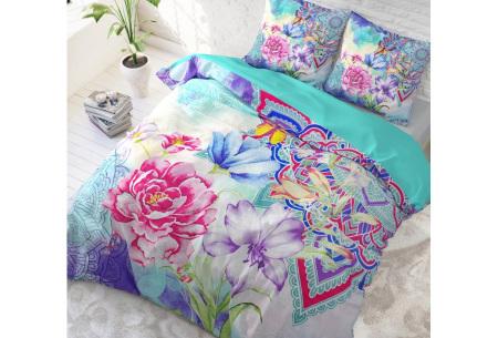 Katoenen dekbedovertrek van Dreamhouse | Kleurrijke dekbedhoezen in 6 printjes #3 Kimley blue