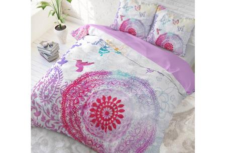 Katoenen dekbedovertrek van Dreamhouse | Kleurrijke dekbedhoezen in 6 printjes #4 Peach mandela