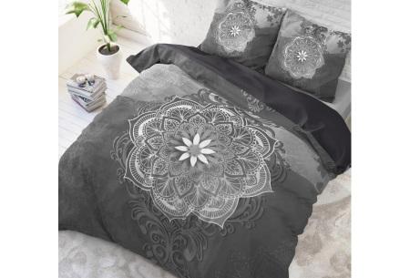 Katoenen dekbedovertrek van Dreamhouse | Kleurrijke dekbedhoezen in 6 printjes #2 Talo grey
