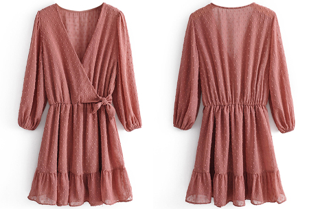 Playsuit jurkje | Hippe zomerjurk van luchtige blousestof Roze
