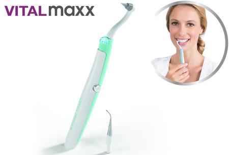 VitalMaxx Dental Cleaner Sonic | Zelf tandplak, verkleuringen en tandsteen verwijderen