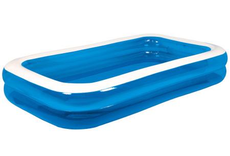 Opblaasbaar zwembad voor jong en oud   Rechthoekige opblaaszwembaden voor in de tuin - in 2 formaten XL