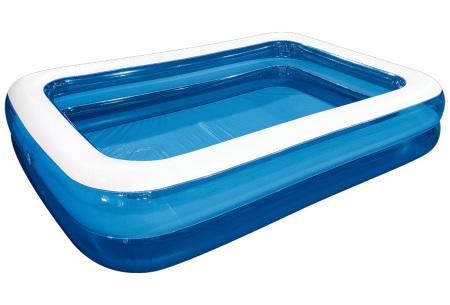 Opblaasbaar zwembad voor jong en oud   Rechthoekige opblaaszwembaden voor in de tuin - in 2 formaten XXL