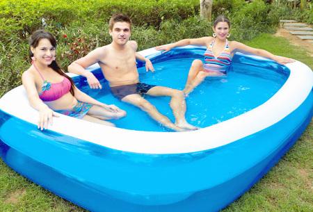 Opblaasbaar zwembad voor jong en oud | Rechthoekige opblaaszwembaden voor in de tuin - Kies uit 2 formaten