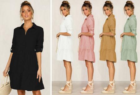Blousejurk van ribstof | Topkwaliteit jurk in de sale!