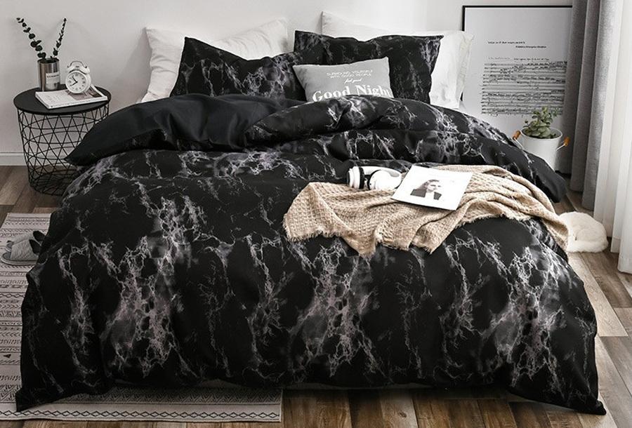 Reversible dekbedovertrek Maat 240 x 220 cm - #3 - Black grey