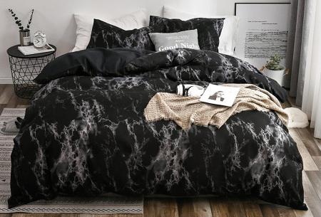 Reversible dekbedovertrekken | Trendy dekbedhoezen - In 7 printjes #3 Black grey