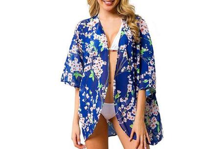 Kimono voor dames   Luchtig vestje voor over je badkleding - In 13 printjes #B