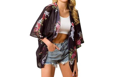 Kimono voor dames   Luchtig vestje voor over je badkleding - In 13 printjes #G