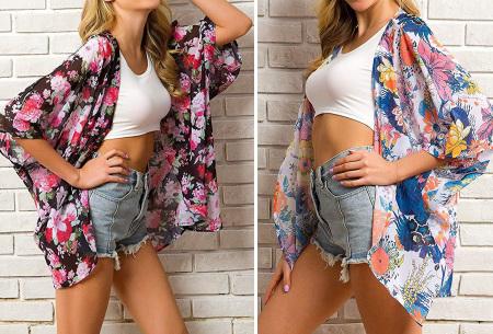 Kimono voor dames   Luchtig vestje voor over je badkleding - In 13 printjes