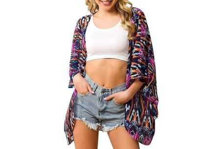 Kimono voor dames   Luchtig vestje voor over je badkleding - In 13 printjes #K