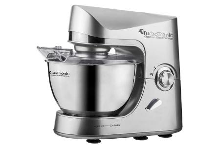 TurboTronic Pro-Mix keukenmachine   Multifunctionele mixer voor brood, taart en meer Zilver