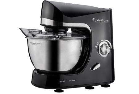 TurboTronic Pro-Mix keukenmachine   Multifunctionele mixer voor brood, taart en meer Zwart