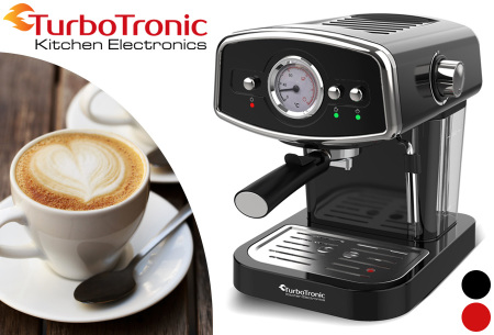 TurboTronic espressomachine | Luxe koffiezetapparaat met retro design